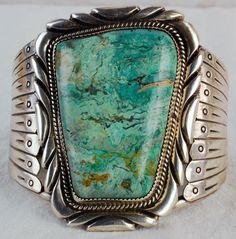 Navajo Old Pawn Large Heavy Turquoise Cuff Amazing   eBay