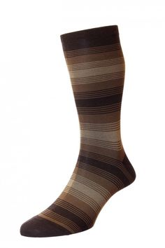 2eddb3c5b Malvern - Graded Mirror Stripe - Cotton Lisle Men s Socks -Buy Online    Pantherella.com