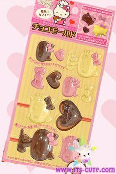 Hello Kitty Chocolate Plastic Mold