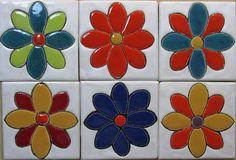 Azulejos Art Nouveau, Art Nouveau Tiles, Ceramic Clay, Ceramic Painting, Tile Art, Mosaic Art, Hacienda Decor, Simple Geometric Pattern, Create Picture