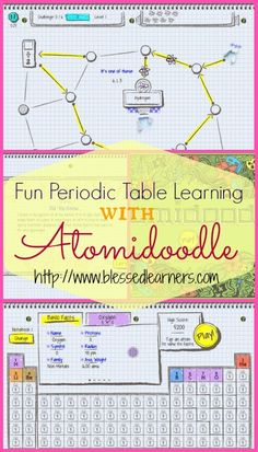 Periodic Table Learning will be fun with Atomidoodle apps. Don't miss the FREE Printable to record.