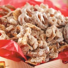 Pretzel Cereal Crunch.  This stuff is easy and very tasty-good.  :)