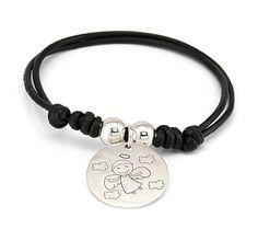 Pulsera de comunión Ángel Personalizada realizada en plata de 925 mm #joyas #joyaspersonalizadas #s&s #silverandsteel #comunion #pulsera #creatujoya #silver #jewels #jewelery #bracelet #fashion