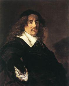 'Portret van een man met lang haar en snor', tussen 1650 en1653 / Frans Hals (1582/3-1666) / Hermitage, St. Petersburg, Rusland.