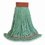 RUBBERMAID A25106GR00 Mop,Looped End,Small by Rubbermaid. $9.63. Wet Mop, Material Synthetic Blend, Dry Weight 8 to 16 oz., Green, Launderable Yes, Headband Size 5 In., Length 34 to 37 In., Width 5-1/2 to 6-1/2 In., 4 Ply, For Use With Rubbermaid Commercial Products Mop Handles
