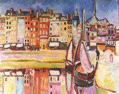 """thorsteinulf: """"Raoul Dufy - Vieilles maisons sur le bassin de Honfleur (1906) """""""