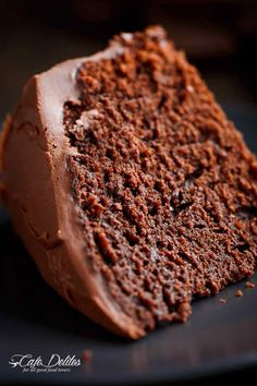 Best Fudgy Chocolate Cake - Cafe Delites