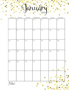 2018 Free Printable Monthly Calendar | Includes Weekly Planner, Weekly Meal Planner, Faith Planner & More!