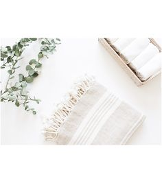 New Linen Towel with Tassels