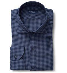 Albini Tencel Slate Blue Tonal Gingham Men's Custom Shirt Tomboy Fashion, Suit Fashion, Mens Fashion, Tomboy Style, Men's Style, Business Casual Outfits, Casual Shirts, Shirt Sleeves, Custom Shirts