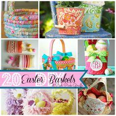Posh Pink Giraffe: 20 DIY Easter Basket Ideas