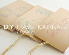 DIY: TRAVEL AIRPLANE JOURNALS - great to take along to keep the kids busy, quiet, and happy on the plane! by willowday