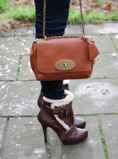 Shearling Boots Mulberry Bag