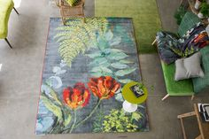 Designers Guild Tulipani rug More Tricia Guild, Textured Carpet, Leather Sectional Sofas, Floral Room, Living Room Accents, Floor Cloth, Colour Pallete, Coaster Furniture, Designers Guild