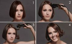 This simple flat-iron trick will give a short haircut body and movement.