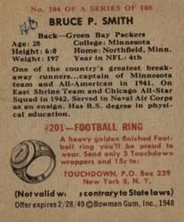 1948 Bowman #104 Bruce Smith Back