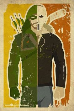 Two times the vigilante. The green arrow and casey jones(: stephen amell is a badass.