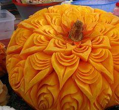 3D Pumpkin Carving | Amazing Pumpkin Carvings Featuring Flowers! | Grower Direct Fresh Cut ...