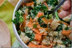 Tangy Kale and Carrot Quinoa