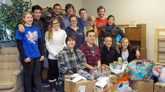 A youth group from Winfield spent Saturday volunteering at the Mission.