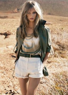 Safari Chic - Anna Selezneva for Mango s/s 2012 Moda Safari, Safari Chic, Fashion Moda, Love Fashion, Fashion Beauty, Fashion Trends, Safari Fashion, Mango Fashion, Anna Selezneva