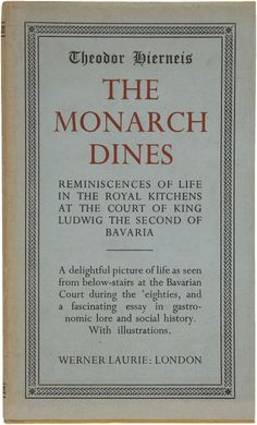 This is an awesome book if you're familiar with the history of King Ludwig II of Bavaria. It's written by a member of his kitchen staff.