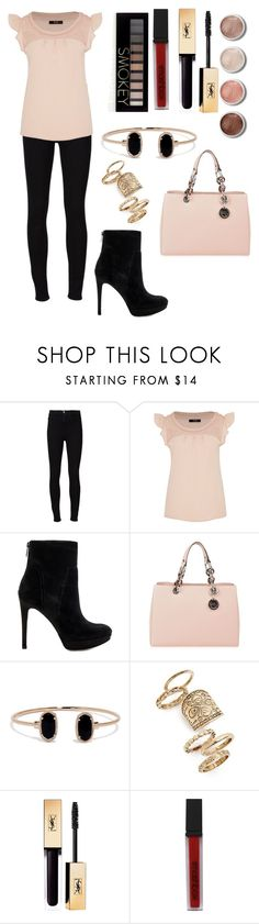 """""""Untitled #45"""" by meen16 ❤ liked on Polyvore featuring Frame Denim, Hallhuber, Sam Edelman, MICHAEL Michael Kors, LULUS, Topshop, Terre Mère, Smashbox and Forever 21"""