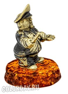 "фигурка ""Гаишник"" Baltic Amber, Buddha, Lion Sculpture, Statue, Sculpture"