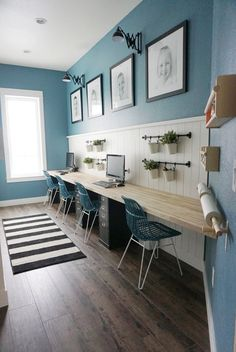 54 Office decor How to update your room, # Office decor . , 54 Office decor How to update your room, # Office decor . 54 Office decor How to update your room update # Office d. Home Office Design, Home Office Decor, House Design, Office Desk, Kids Office, Loft Office, Office Style, Family Office, Blue Office