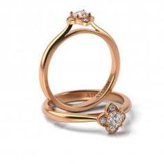 Inel de logodna cu diamante Suave din aur roz Aur, Engagement Rings, Jewelry, Enagement Rings, Wedding Rings, Jewlery, Bijoux, Schmuck, Pave Engagement Rings