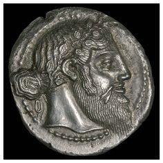 Naxos tetradrachm obverse