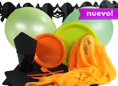 Para un Halloween con un poco de color, ¡nuestro tema Halloween neón! De www.fiestafacil.com / For a Halloween with a bit of colour, our new theme - from www.fiestafacil.com