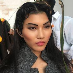 My makeup work. Using @maccosmetics  #lipmix @shuuemura  #eyeshadow  @narsissist  #blush #foundation  @katvondbeauty  #tattoo  #liner  waterproof liquid eyeliner  #hairstyles #hair #chinese #asia #asian #fashion #beauty #model #photography #photographer #photoshoot #hit #glowing #kvdlook #artist