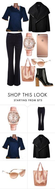 """Casual Outfit"" by elena-kononenko ❤ liked on Polyvore featuring Rolex, Mura, Karen Millen, Ralph Lauren Black Label, Versace, 3.1 Phillip Lim, women's clothing, women, female and woman"