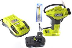 Ryobi ONE+ Power Inflator with Charger, Lithium-ion battery and Pittsburgh Automotive Pencil Tire Gauge (Bundle) Ryobi Battery, Tyre Gauge, Air Tools, Tools For Sale, Sports Equipment, Tool Kit, Home Depot, Gauges, Pittsburgh