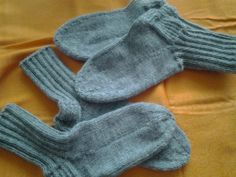 Grey socks for winter days.