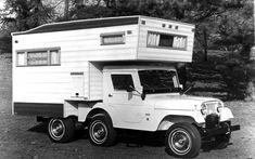 1970 Jeep CJ-5 universal with camper option.