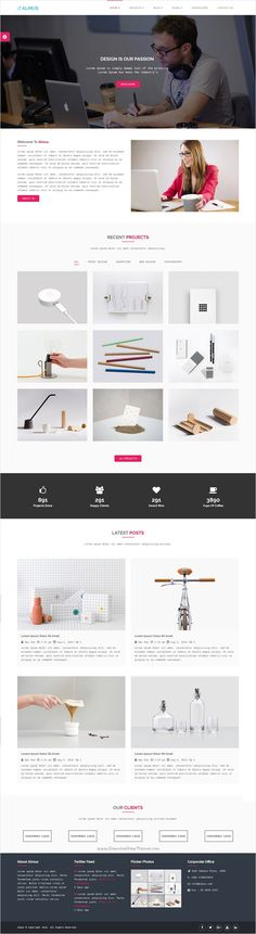 Almus is a flat and modern look Bootstrap #HTML template for #creative portfolio #website with 4 unique homepage layouts download now➩ https://themeforest.net/item/almus-creative-portfolio-template/18328697?ref=Datasata