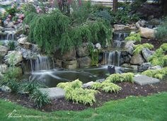 When it comes to designing a water feature for your yard, it's important to naturalize its appearance so it looks like it's been carved into the landscape for years. An easy way to make your pond look like it fits in with the surroundings is to pay carefu