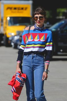 The Most Authentically Inspiring Street Style From New York #refinery29  http://www.refinery29.com/2015/09/93788/ny-fashion-week-spring-2016-street-style-pictures#slide-49  Digging the primary color combo....