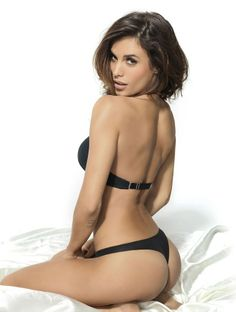 Elisabetta Canalis's Stunning Lingerie Shoot for Lormar-Global Intimate Wear