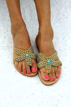 Яркие Handmade сандалики