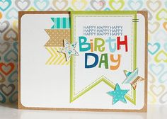Cute birthday card featuring Bella Blvd and our Shape Studio Star Tool.