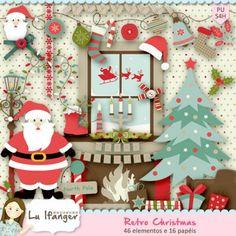 Kit Digital Retro Christmas by Lu Ifanger