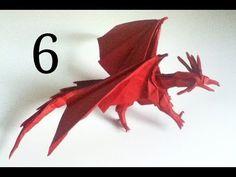 Origami Ancient Dragon tutorial (Satoshi Kamiya) - part 1 Origami And Quilling, Origami And Kirigami, Oragami, Diy Origami, Origami Paper, Origami Ancient Dragon, Dragon Origami, Dinosaur Origami, Origami Instructions