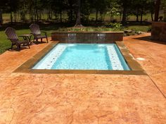 Small pool design and pool deck. Pool builder, Redman Pools