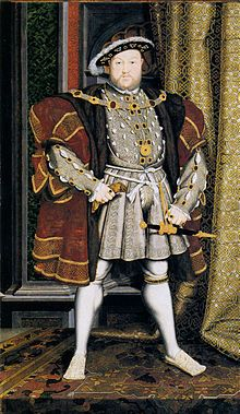 Official portrait of King Henry VIII, King of England who reigned from April 21, 1509 - January 28, 1547. His coronation was on June 24, 1509. He is of the House of Tudor and the father of Elizabeth I. He is well known for his many wives - particularly Elizabeth's mother, Queen Ann Boleyn.