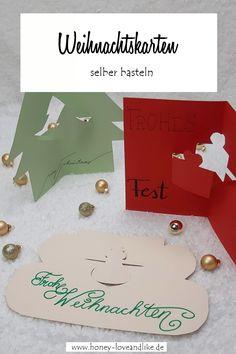 Diy Weihnachten, Playing Cards, Bricolage, Stencils, Playing Card Games, Game Cards, Playing Card