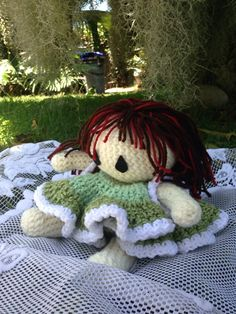 A personal favorite from my Etsy shop https://www.etsy.com/listing/238097520/handmade-crochet-doll-bed-doll-brunette