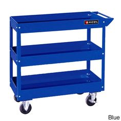 Excel 29-inch 3-tray Rolling Metal Tool Cart by Excel